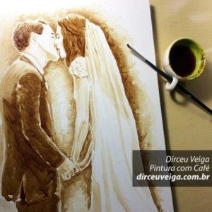 Coffee Art - Retrato sob Encomenda