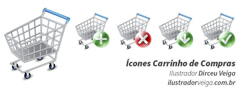 ícones carrinho de compras