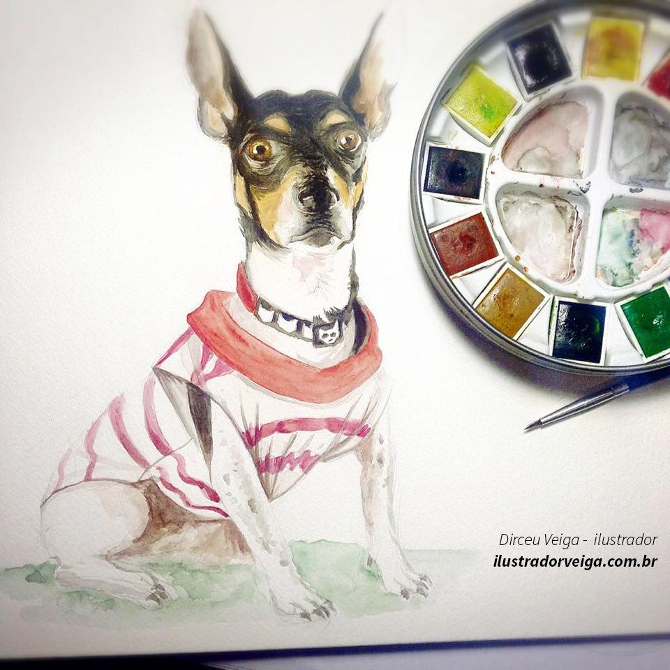 Pintura de Cachorro