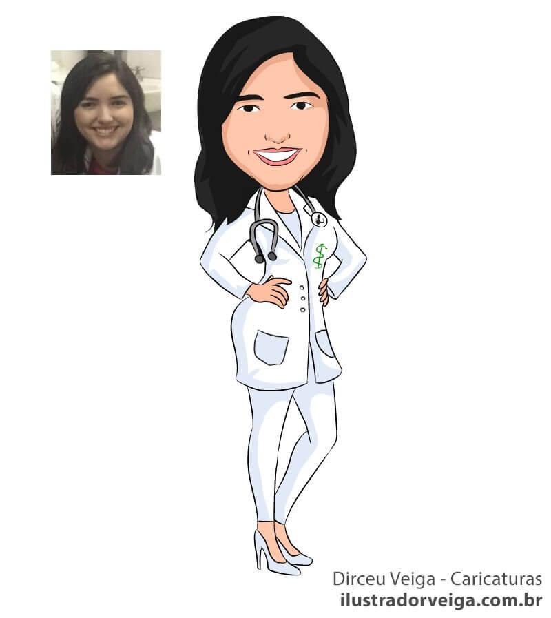 Caricatura de Médica