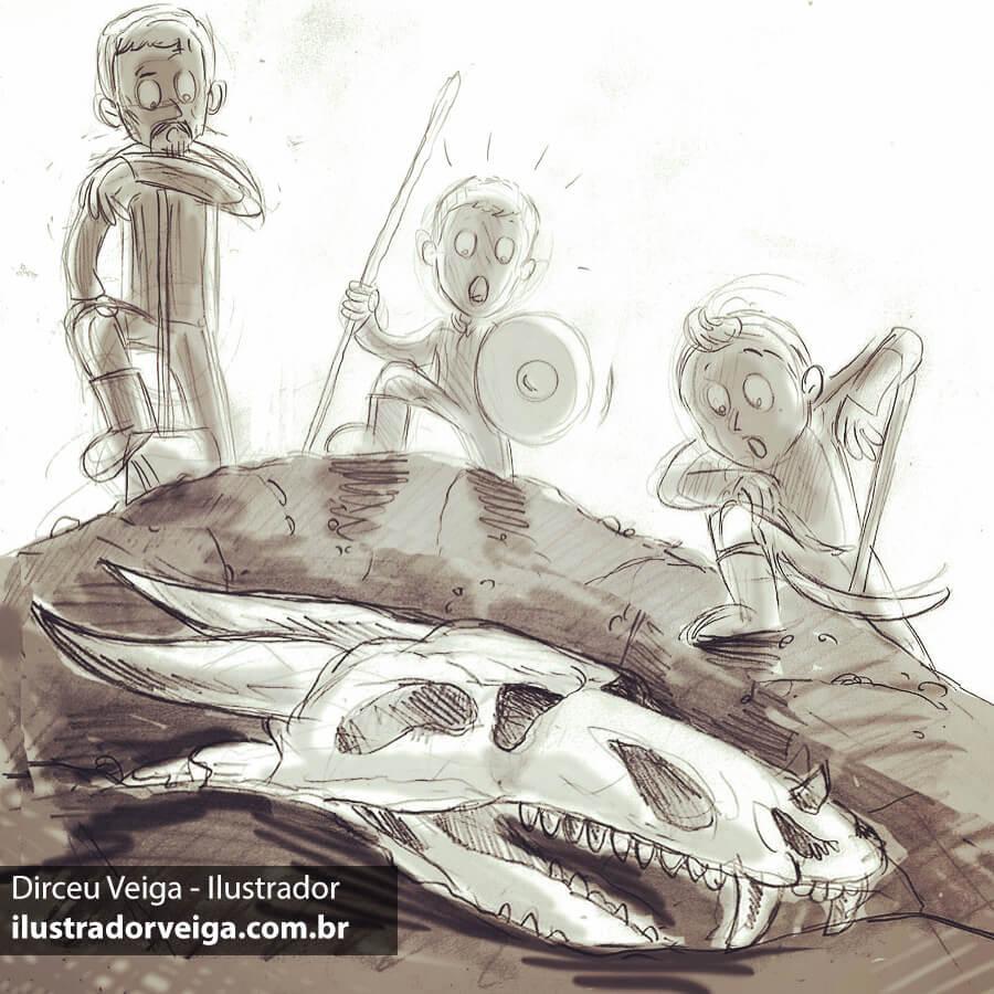 Ilustração de Livros Infanto-Juvenil - Esboço