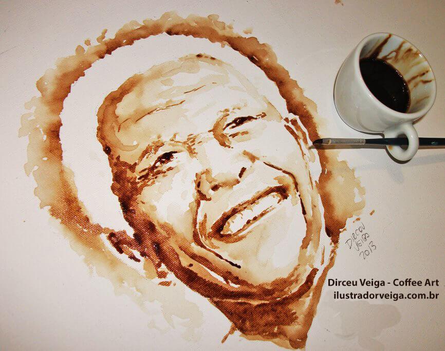 Arte com Café Nelson Mandela