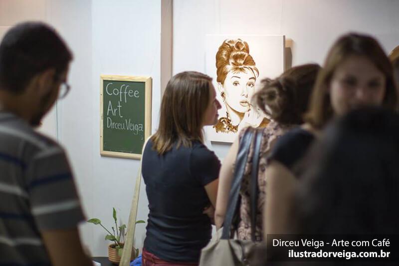 Exposição de Arte com Café