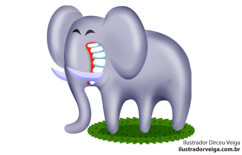 Ilustração de Elefante Infantil