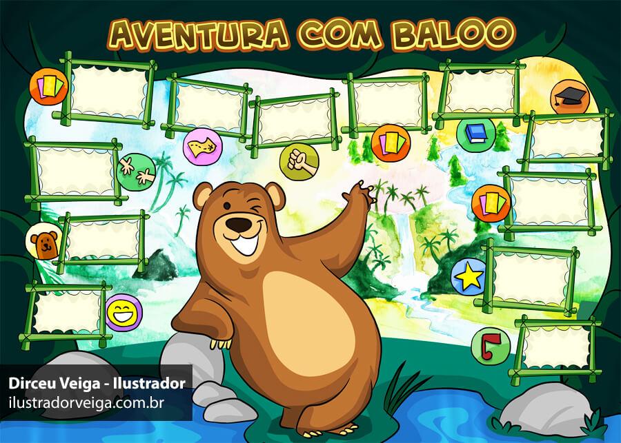 Ilustração Infantil Digital para Jogos