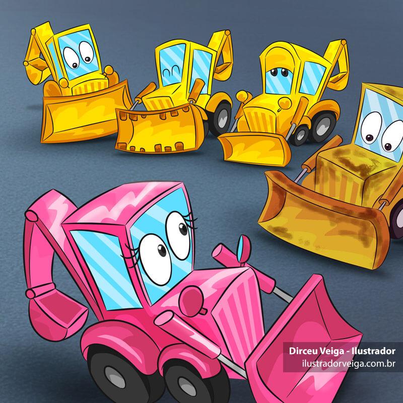 ilustração para Livro Infantil Colorida