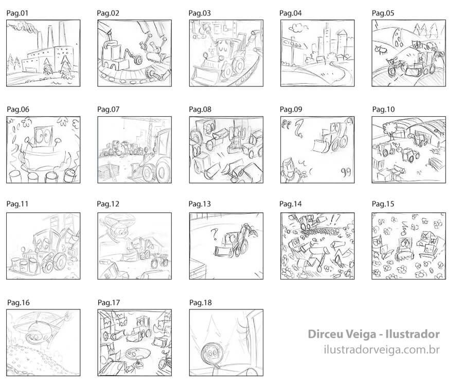 Storyboard para Livro Infantil