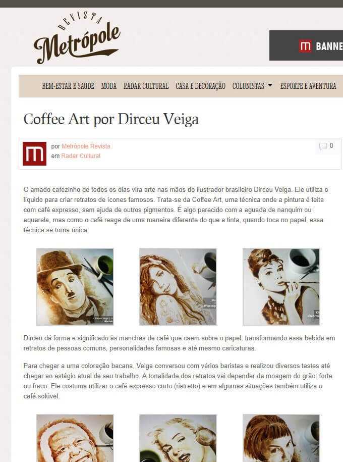 Pintura com Café