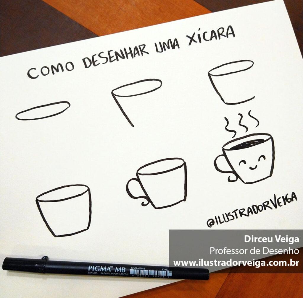 Como Desenhar uma Xícara